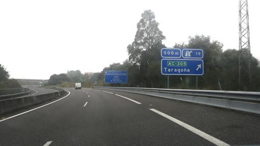 Salida de Taragoña por la autovía