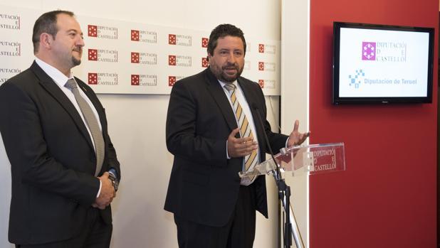 Imagen de Moliner junto a su homólogo de la Diputación de Teruel