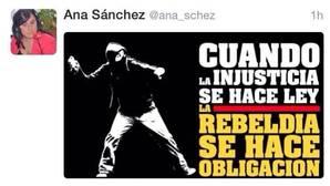 Un tuit de Ana Sánchez con un encapuchado prende de nuevo la crisis interna en el PSCL