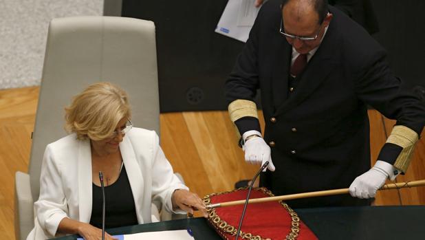 Manuela Carmena tomó el bastón de mando del Ayuntamiento en junio de 2015