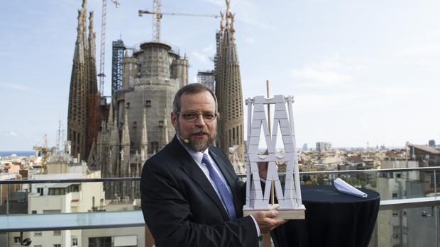 El arquitecto Jordi Faulí, en una visita de obras reciente a las obras de la Sagrada Familia