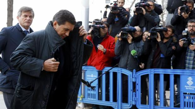 Jaume Matas llega a los juzgados de Palma el pasado mes de enero