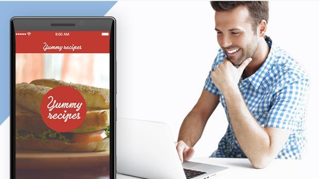 Imagen de la web de la plataforma de diseño de app