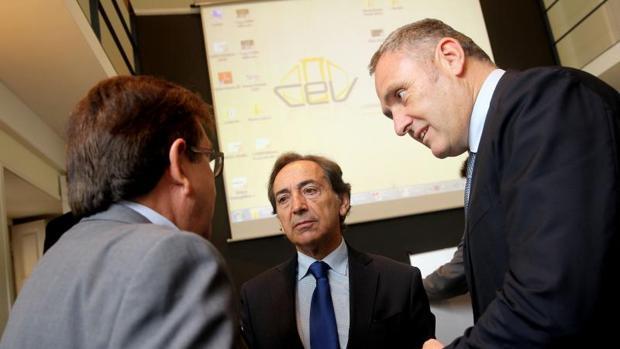 Directivos de iNTU Eurofund, la promotora del parque de ocio en Paterna