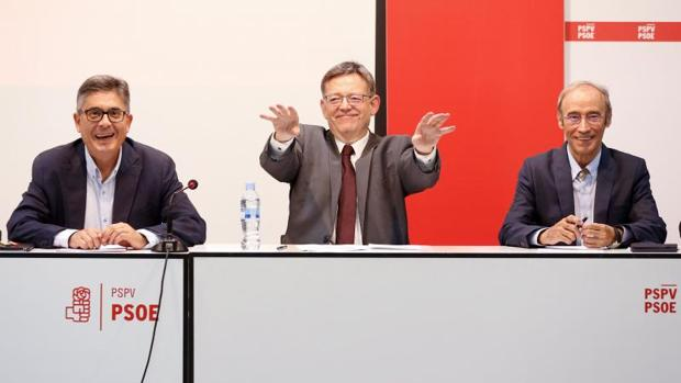 Puig, durante la reunión de la Comisión Ejecutiva del PSPV de este lunes