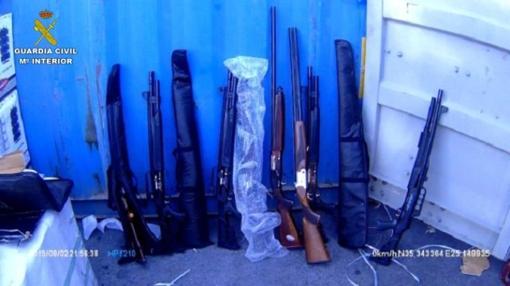 Armas incautadas en el buque con bandera panameña