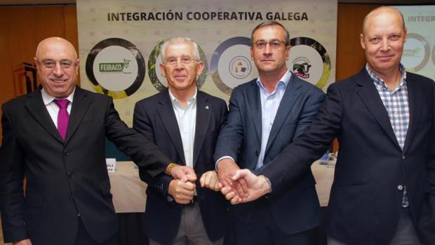 Pablo Costoya, José Montes, José Angel Blanco y José Manuel Castro, ayer en Santiago