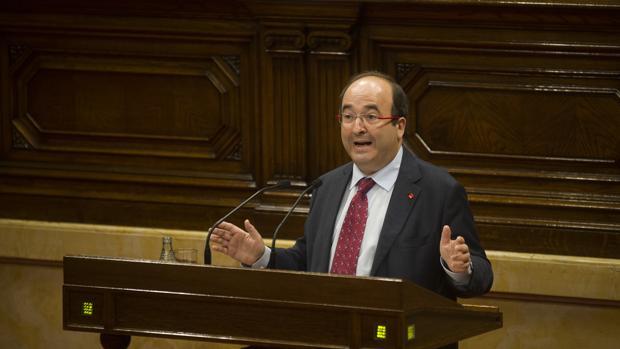 Miquel Iceta, durante un debate en el Parlament