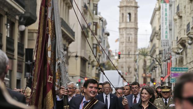 Imagen de la procesión cívica del pasado domingo
