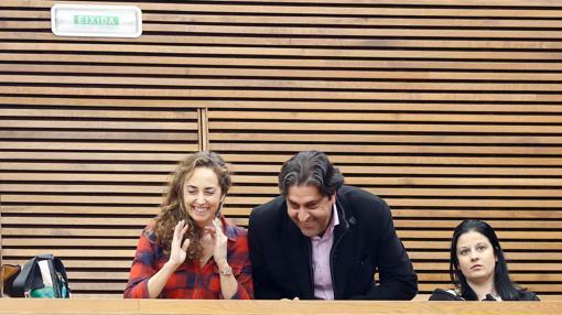 Imagen de Punset, a la izquierda, en su última visita a las Cortes Valencianas