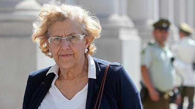 Manuela Carmena, durante su visita a Chile