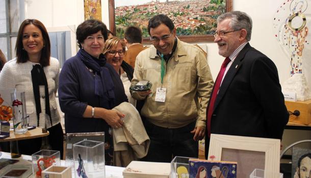 Felpeto, durante su visita a Farcama
