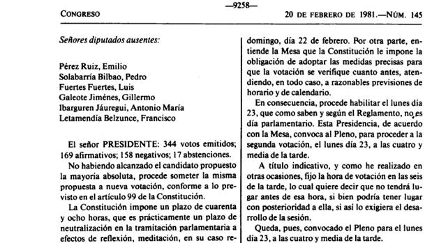 Diario de sesiones del Congreso