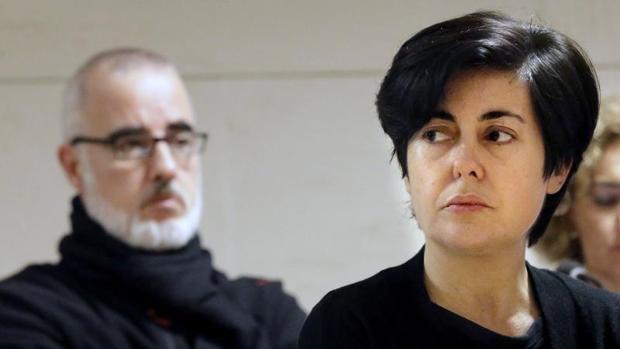 Rosario Porto y Alfonso Basterra durante la celebración del jucio por el caso Asunta