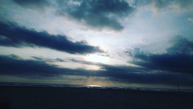 Imagen tomada en la playa de la Patacona de Alboraya