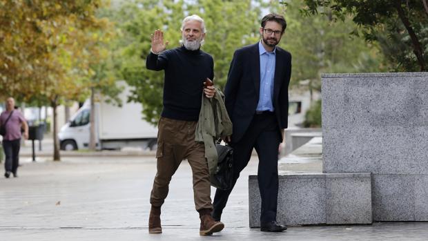 Imagen de Marcos Benavent tomada este jueves en la Ciudad de la Justicia de Valencia
