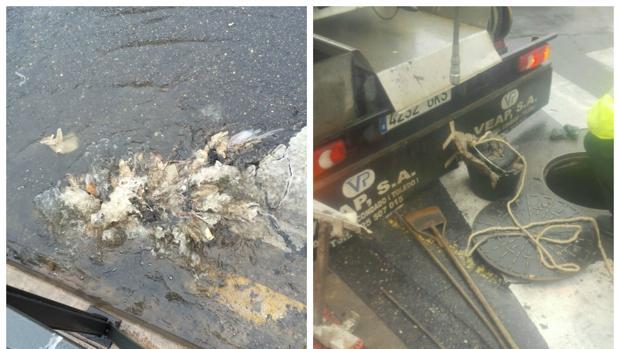 Las deficiendas de la red de saneamiento provocaron el miércoles graves atascos en las alcantarillas
