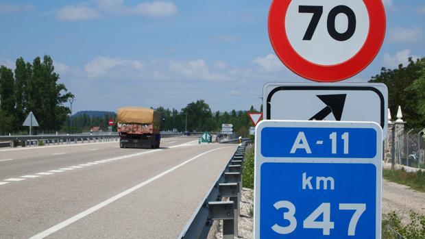 Punto kilométrico donde se unirá la futura autovía A-11 de Soria con la antigua N-122