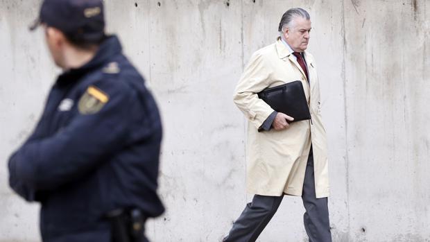 Luis Bárcenas llega al juzgado