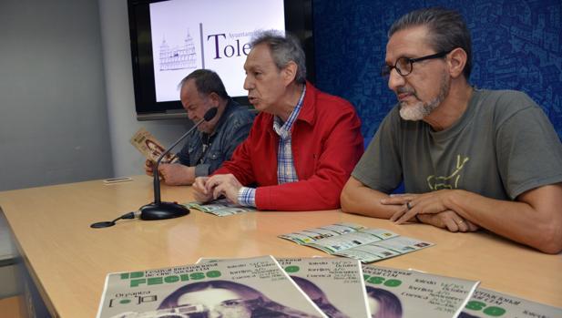 Gómez Vidales, González Cabezas y Tito Cañadas, en la presentación