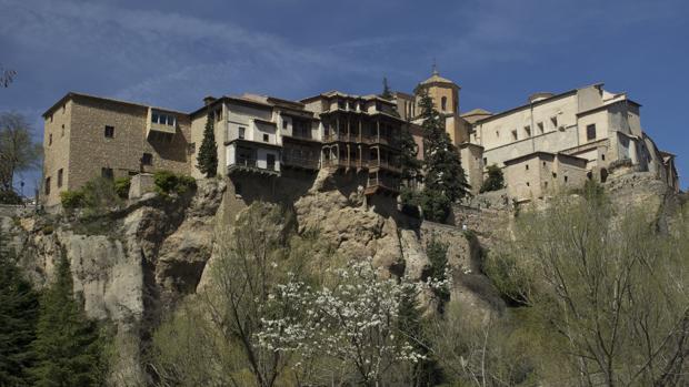Vista panorámica de las Casas Colgadas de Cuenca