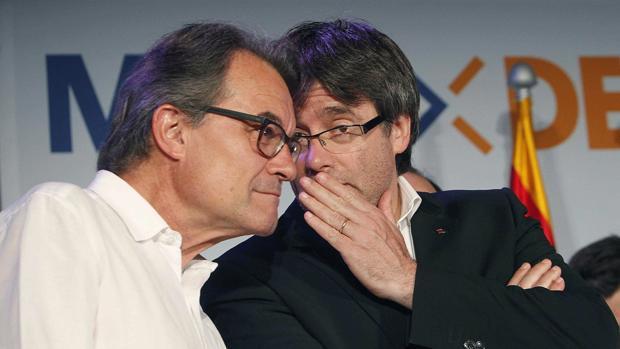 Mas y Puigdemont, en una imagen reciente