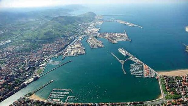 Vista aérea del Puerto de Bilbao