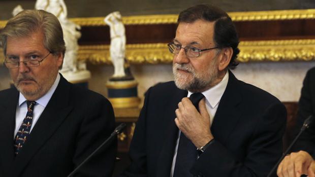 Mariano Rajoy durante una reunión en el Instituto Cervantes la semana pasada