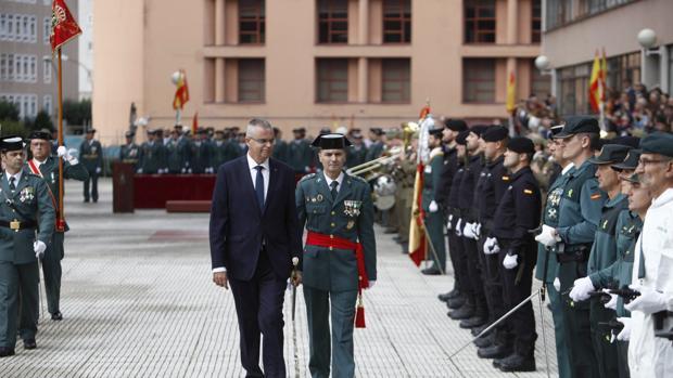 El delegado del Gobierno, Santiago Villaueva, en el acto delebrado ayer en La Coruña