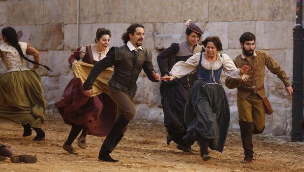 Rodaje de «Still Star Crossed» en Salamanca