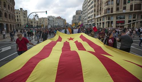 Imagen de la manifestación celebrada el pasado domingo en Valencia