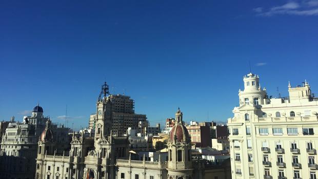 Imagen del cielo de Valencia, esta mañana