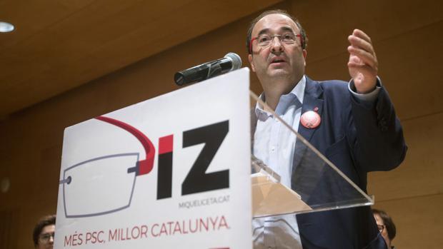 Miquel Iceta, ayer, en un acto en Hospitalet de LLobregat (Barcelona)