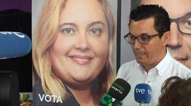 Cartel de Beatriz Calzada, líder de CC en Las Palmas capital