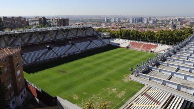 Vista general del estadio del Rayo Vallecano, en la avenida de la Albufera