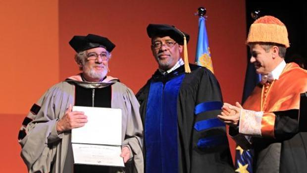 Plácido Domingo, en un acto de reconocimiento en Valencia