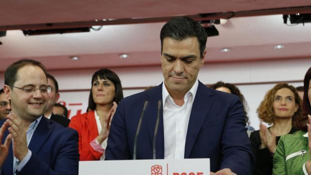 Imagen de Pedro Sánchez cuand todavía era secretario general del PSOE