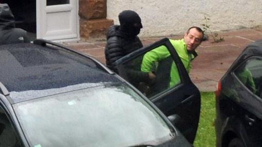 David Pla, en el momento de la detención