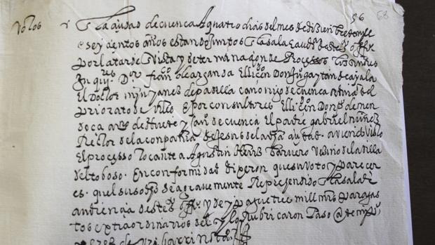 La sentencia a Agustín Ortiz, dictada por el Tribunal de la Inquisición, que se encuentra en el Archivo Diocesano de Cuenca
