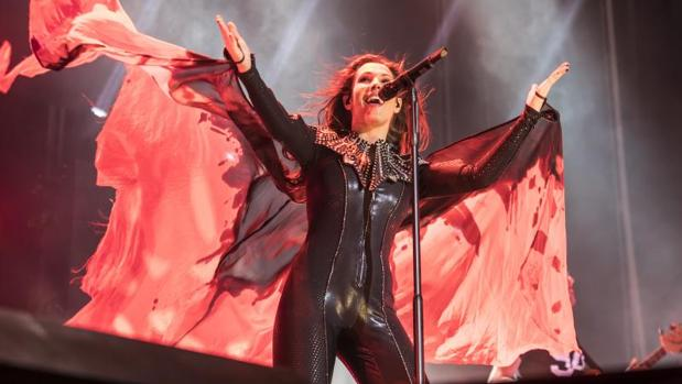Malú, durante el concierto en Alicante