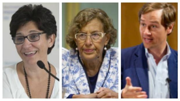 Susana Pérez Quislant (Pozuelo), Manuel Carmena (Madrid) y Antonio González Terol (Boadilla)