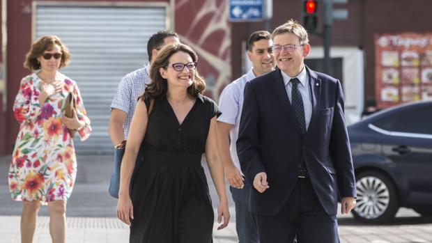 Mónica Oltra y Ximo Puig, en una imagen de archivo