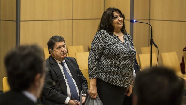 Imagen de Olivas tomada este martes en el banquillo de los acusados