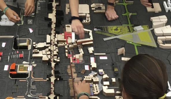 Maqueta hecha por los estudiantes de Arquitectura