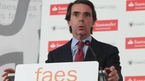 Aznar, sin citar el juicio de Gürtel: «Lleva algún tiempo poner a cada uno en su sitio»