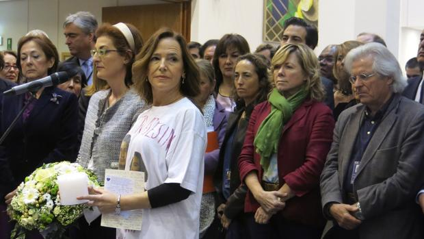 Teresa Jiménez-Becerril y otros eurodiputados protestan por la visita de Otegi al Parlamento Europeo el pasado abril