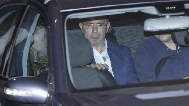 Francisco Granados, en un traslado del juzgado a prisión, en octubre de 2014