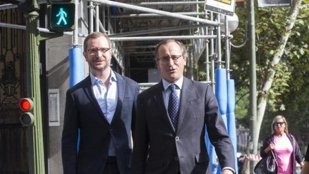 Javier Maroto y Alfonso Alonso, el 26 de septiembre en Génova