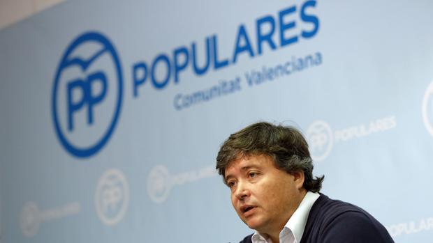 Luis Santamaría, ayer, en la sede del PPCV