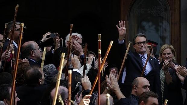 Artur Mas, a su salida del Tribunal Superior de Justicia de Cataluña, en una imagen de archivo